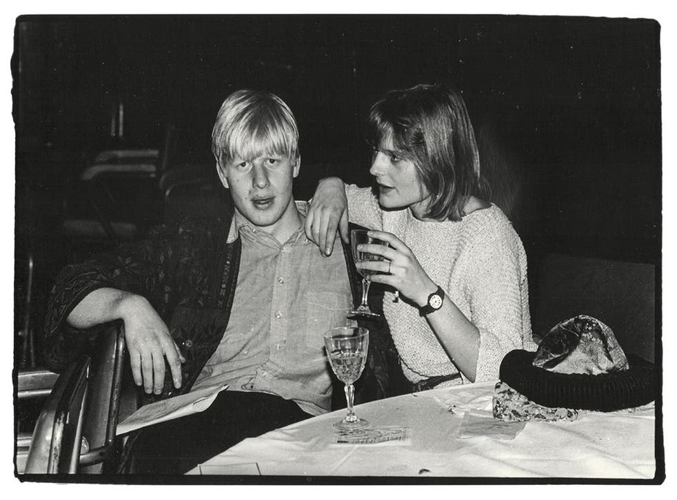 Boris Johnson and Allegra Mostyn-Owen at the Sultans Ball in Oxford Town Hall on 10 March 1986