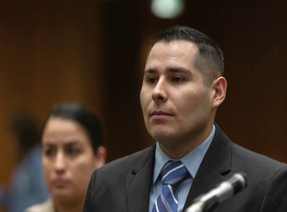 Officer David Rojas is being sued by the family of Elizabeth Baggett after footage was discovered of him allegedly groping her corpse