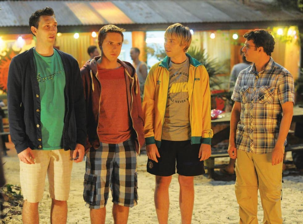 Buckley's (second from right) last performance as Jay came in 'The Inbetweeners 2' in 2014