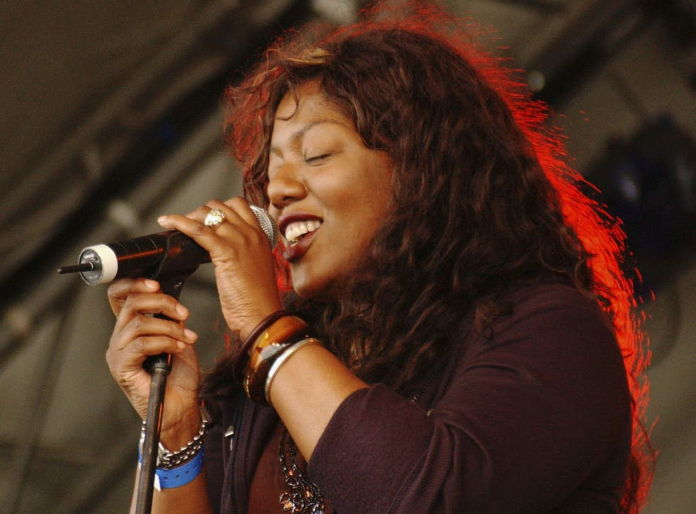 Performing at Big Chill music festival in 2005