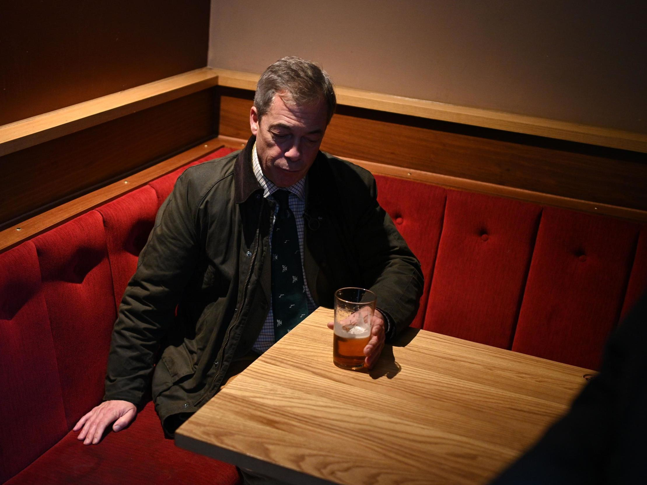Farage is right, we can't let refugees in unless they've done honest work, like holding pints | Mark Steel