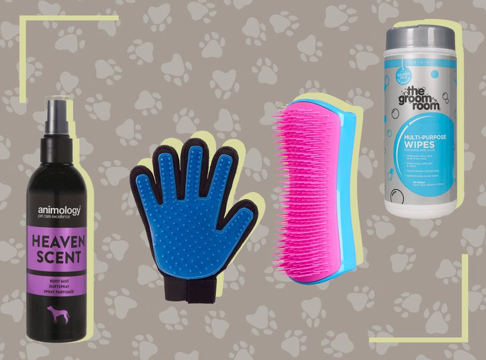 Choose from shampoos, clippers, towels, de-shedding tools and mists