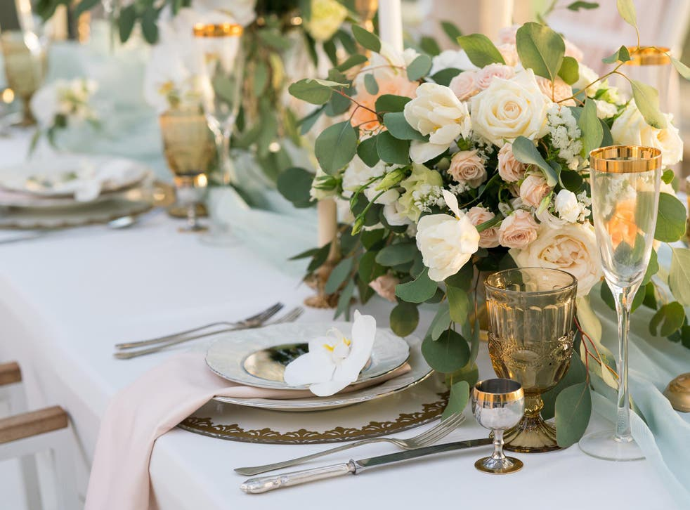 Wedding Receptions Everything You Need To Decorate Your Table From Centrepieces To Glassware The Independent