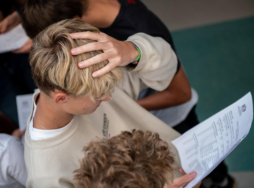GCSE students get their results today, but Btec students will have to wait