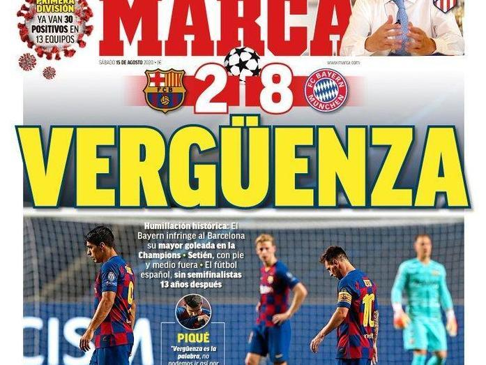'His throne wobbles': Spanish press round on Lionel Messi after Barcelona thrashed by Bayern Munich