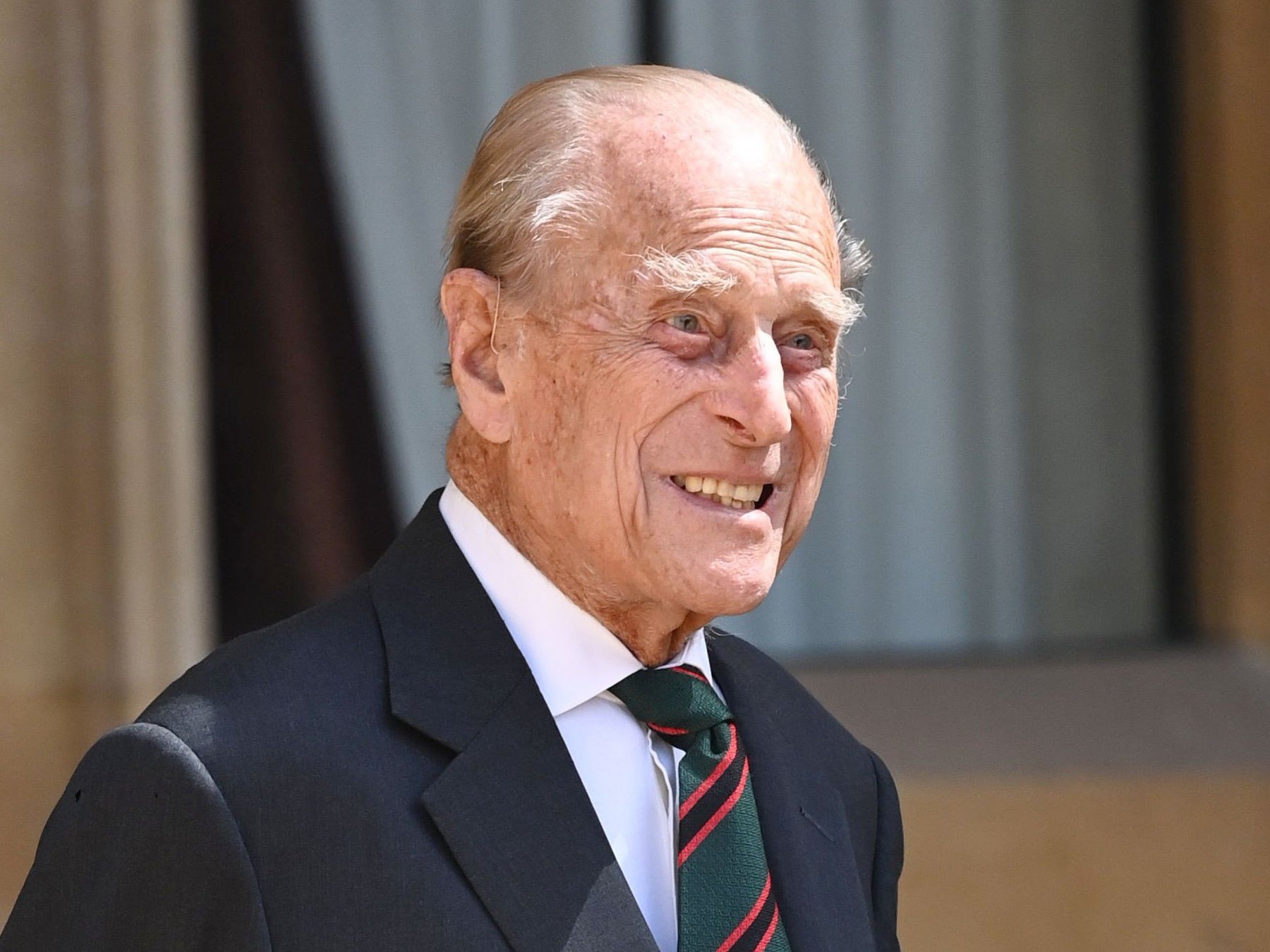 Prince Philip makes rare appearance in veterans photo montage
