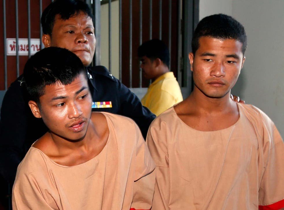 Zaw Lin and Wai Phyo were convicted over the killings of two British tourists but the pair have denied their involvement in the murders