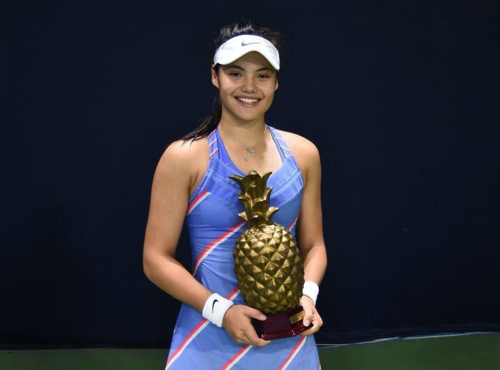 Emma Raducanu won the UK Pro Series this weekend