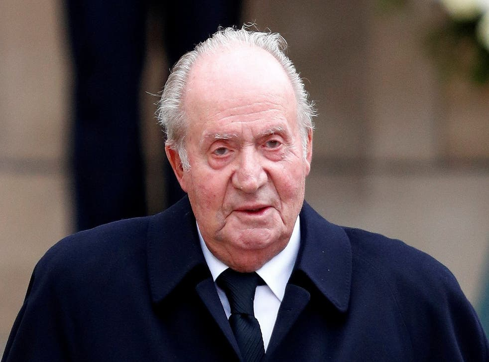 File photo of Spain's former king, Juan Carlos, pictured after attending the funeral ceremony of Luxembourg's Grand Duke Jean at the Notre-Dame Cathedral in Luxembourg in May 2019
