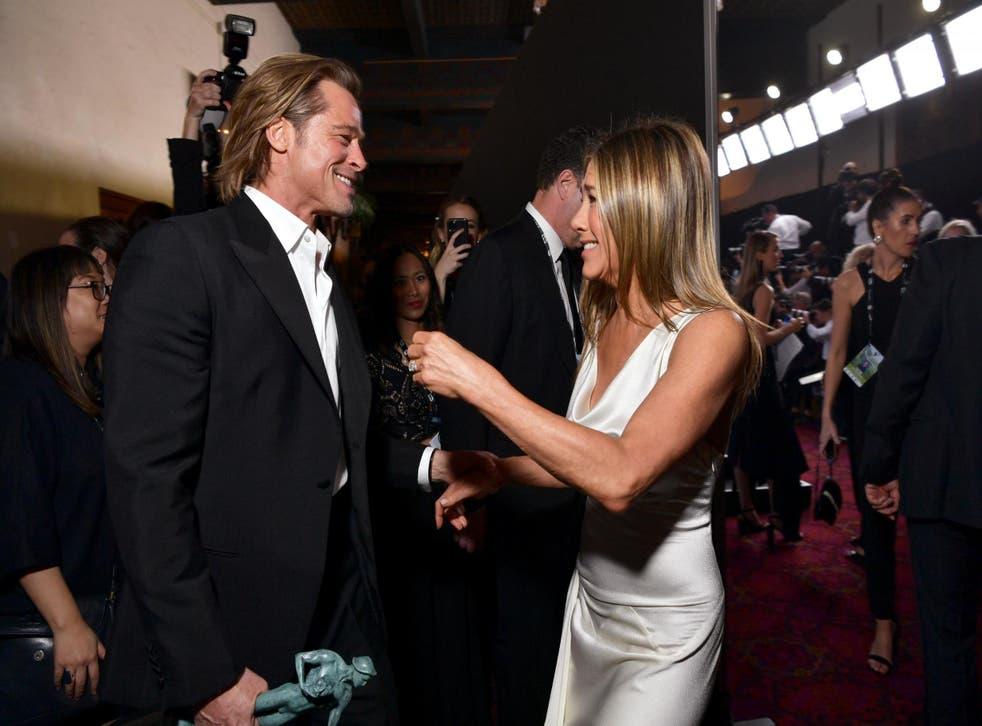 Brad Pitt and Jennifer Aniston at the SAG Awards on 19 January 2020 in Los Angeles, California.