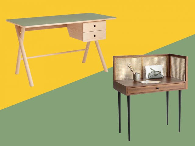 Best Home Office Desks Stylish And, Double Desk Home Office With Drawers