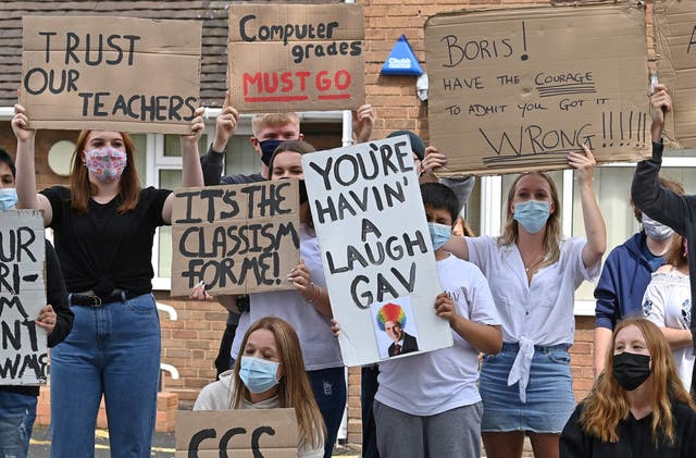 The moderation process that saw tens of thousands of grades lowered was met by widespread protests