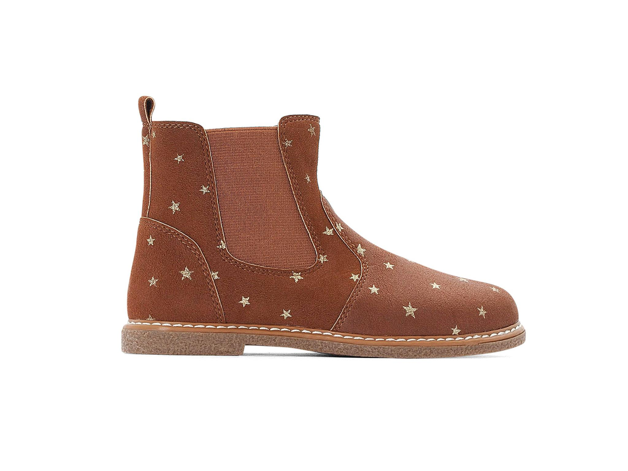 KR Max /& May Boys Brown Leather Rip Tape Fastening Shoes
