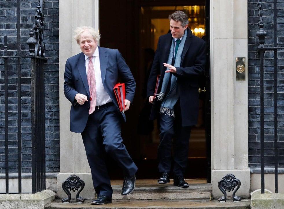 Happier times: Williamson and Boris Johnson leave No 10