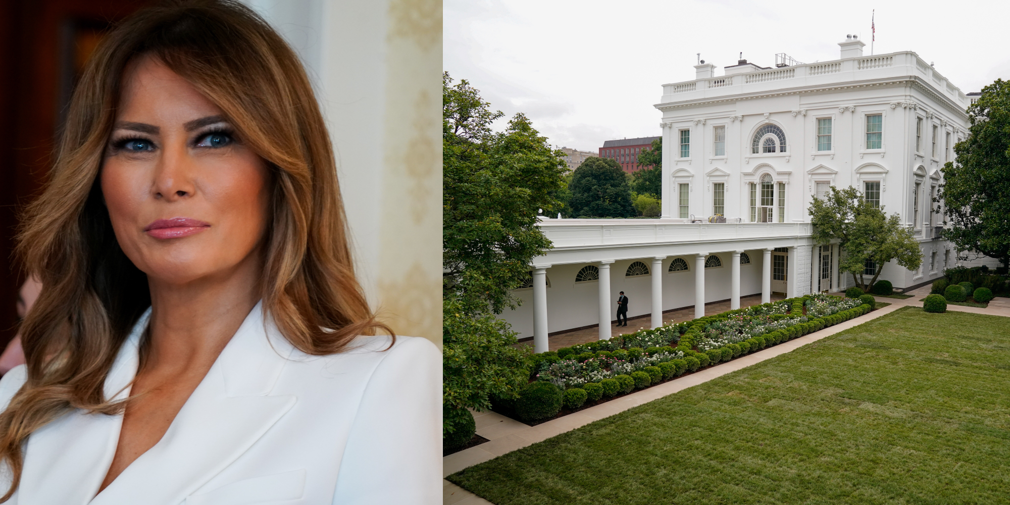 Melania Trump How The Internet Reacted To The Redesign Of The White House Rose Garden Indy100 Indy100