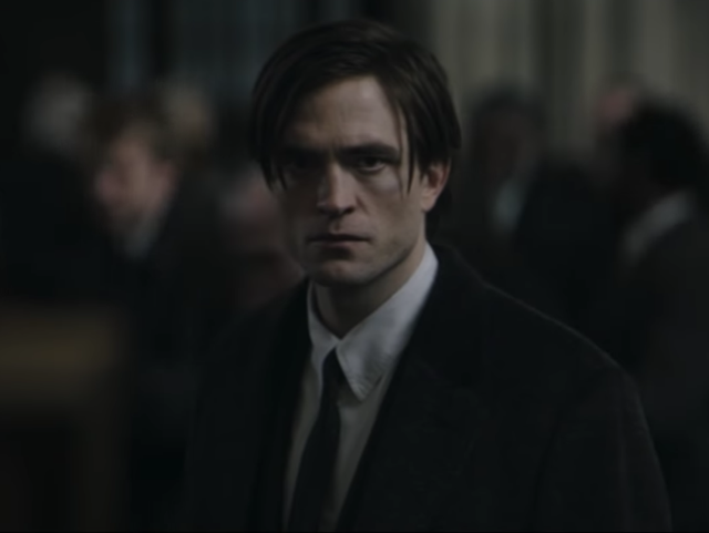 Robert Pattinson as Bruce Wayne in the first trailer for 'The Batman'
