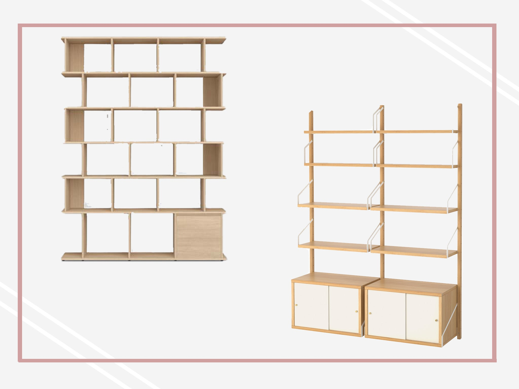 Best Modular Shelving Units Wooden Bamboo And Aluminium Designs Independent