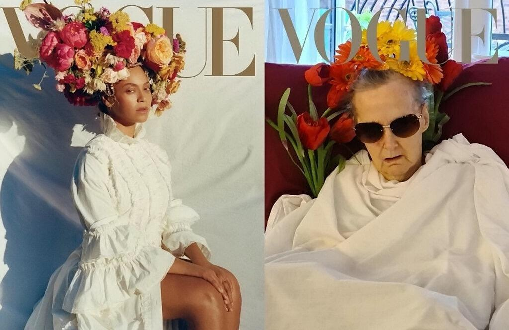Creative Care Home Residents Reenact Iconic Vogue Covers Including Beyonce S September Issue The Independent The Independent
