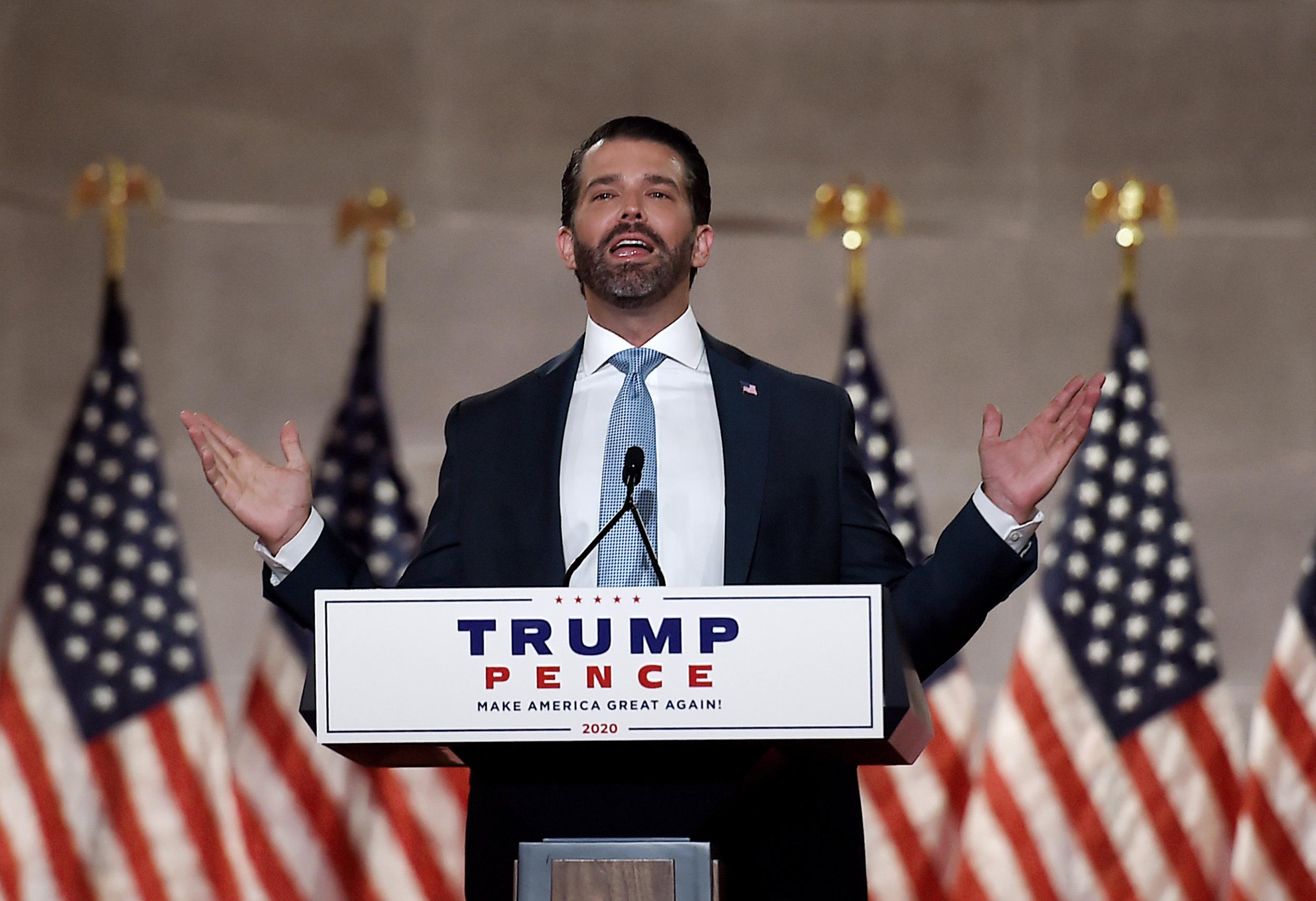 It Was The Lighting Don Jr Addresses Rumors He Was On Cocaine During Rnc Speech The Independent The Independent