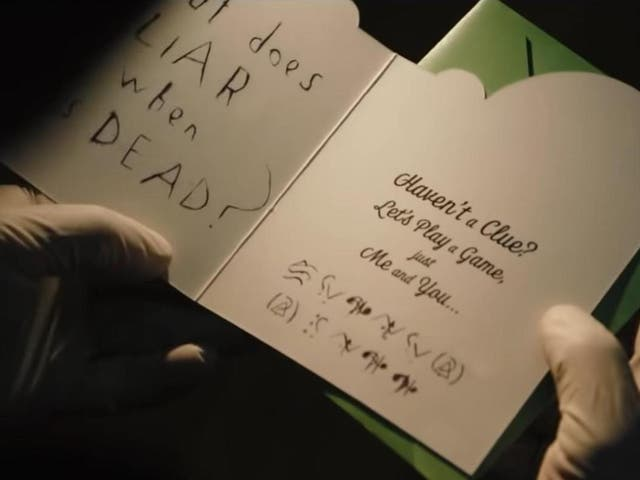 The first trailer for 'The Batman' featured a cryptic message from Paul Dano's Riddler