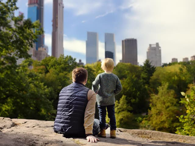 Central Park, New York City. Numerous studies have found links between access to green areas and positive child development outcomes