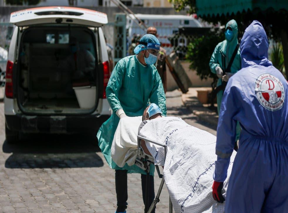 El sistema de salud de Gaza no cuenta con el equipo necesario para atender una gran cantidad de pacientes que enfermen de este padecimiento