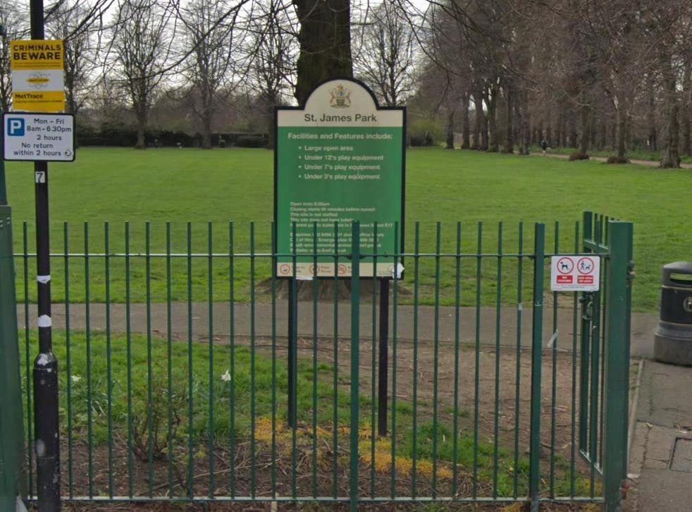 The body was found in St James Park, Walthamstow