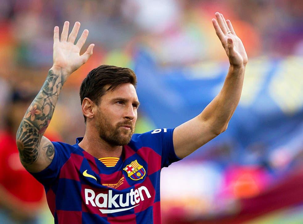 Lionel Messi, delantero argentino del FC Barcelona