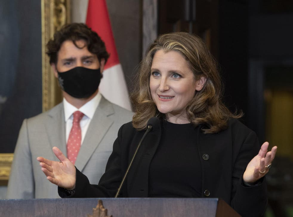 Canada's first woman finance minister, Chrystia Freeland