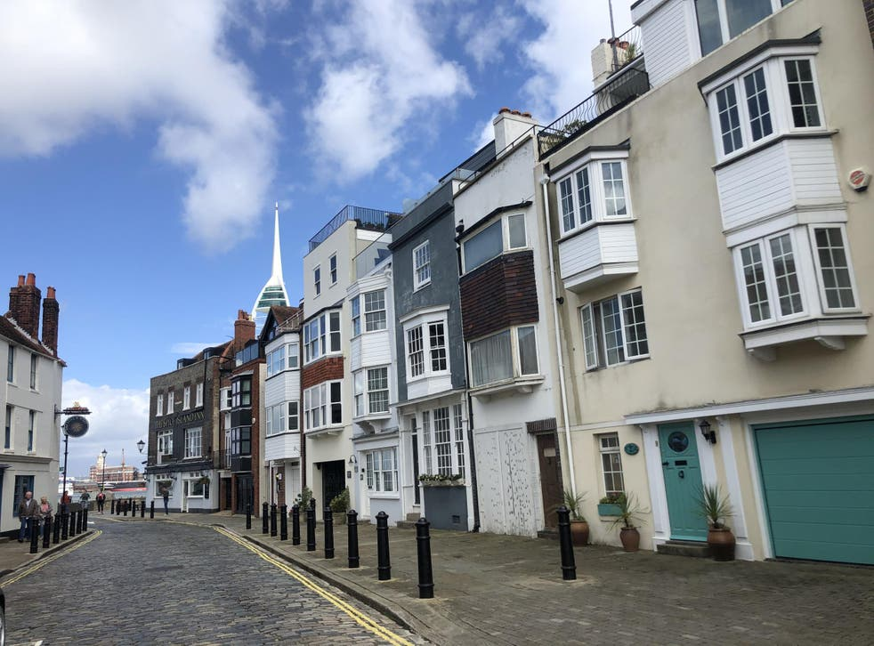 Spice pearls: the buildings of the Point, with the Spinnaker Tower in the background