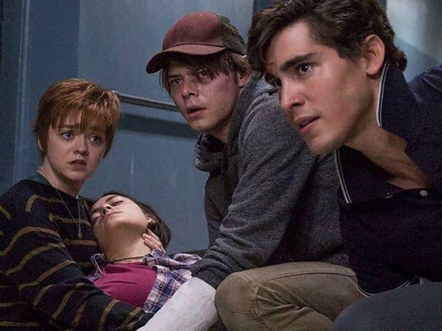 Maisie Williams, Blu Hunt, Charlie Heaton and Henry Zaga in 'The New Mutants'
