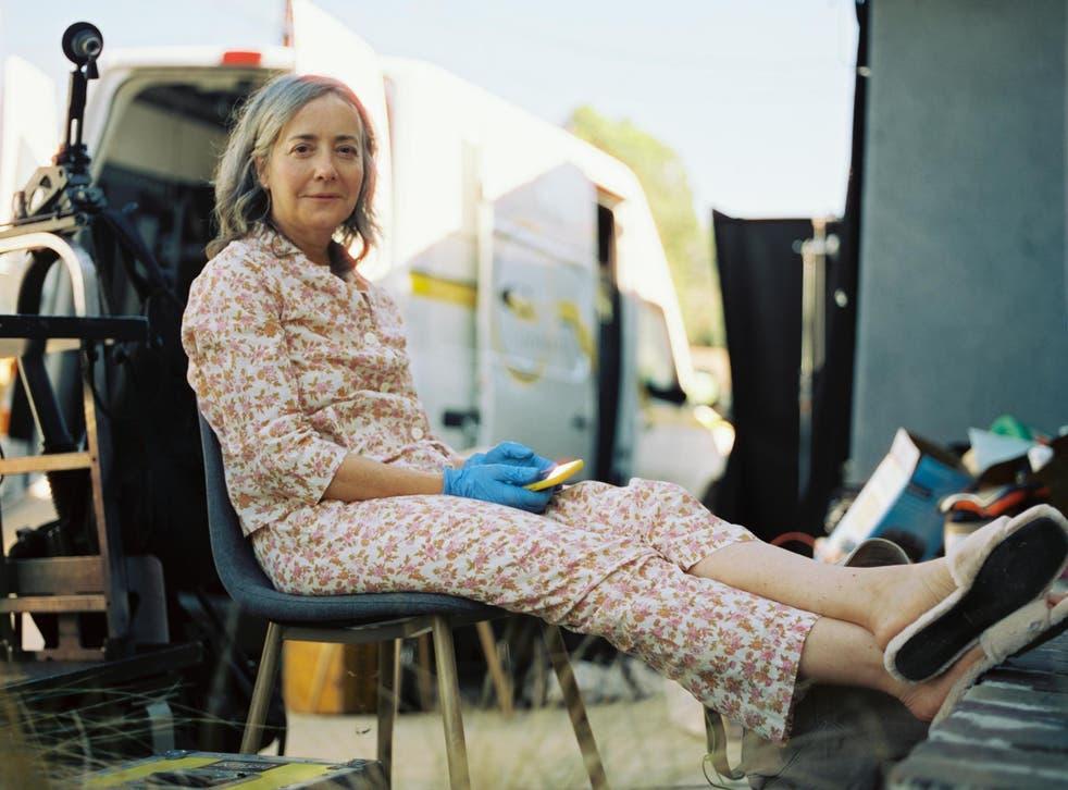 Jane Adams on the set of 'She Dies Tomorrow'