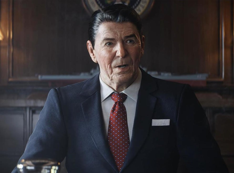 Call Of Duty Black Ops Cold War Twitter Users Poke Fun At Cursed Cgi Ronald Reagan The Independent The Independent