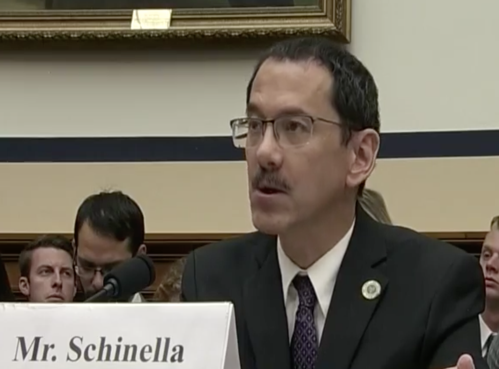 Anthony Schinella testifying before the House Armed Services Committee hearing on military technology and the transfer of such developments with international and commercial partners in 2018