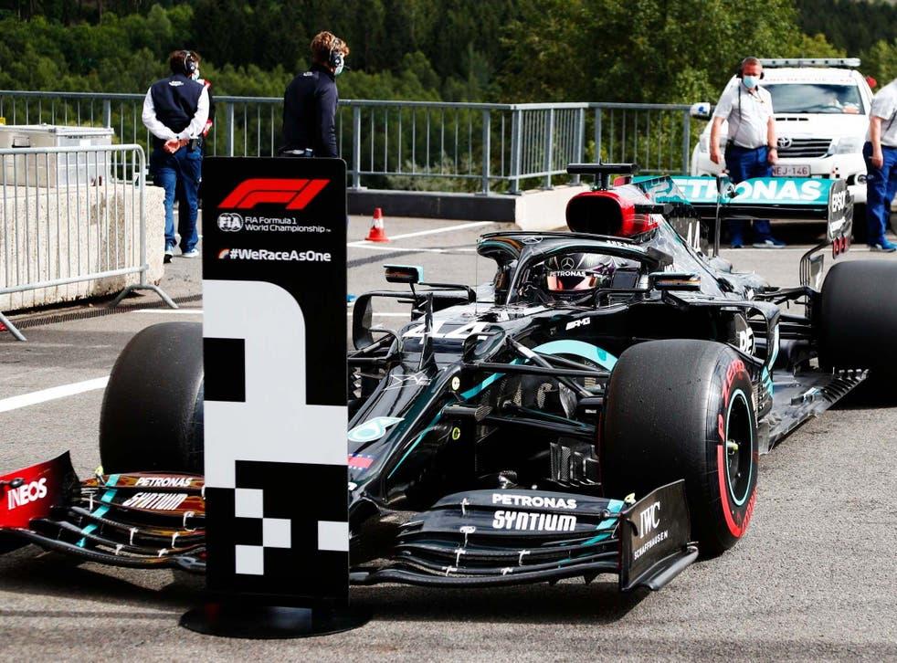 Lewis Hamilton consiguió la pole position para el Gran Premio de Bélgica