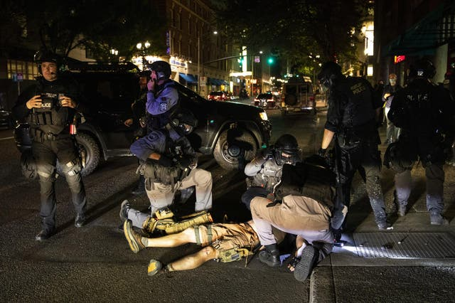A man was shot on Saturday, 29 August in Portland, Oregon. Fights broke out in downtown Portland as a large caravan of supporters of President Donald Trump drove through the city, clashing with counter-protesters.