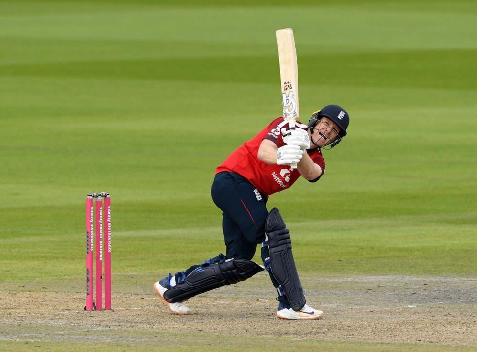 Captain Eoin Morgan hit 66 off 33 balls
