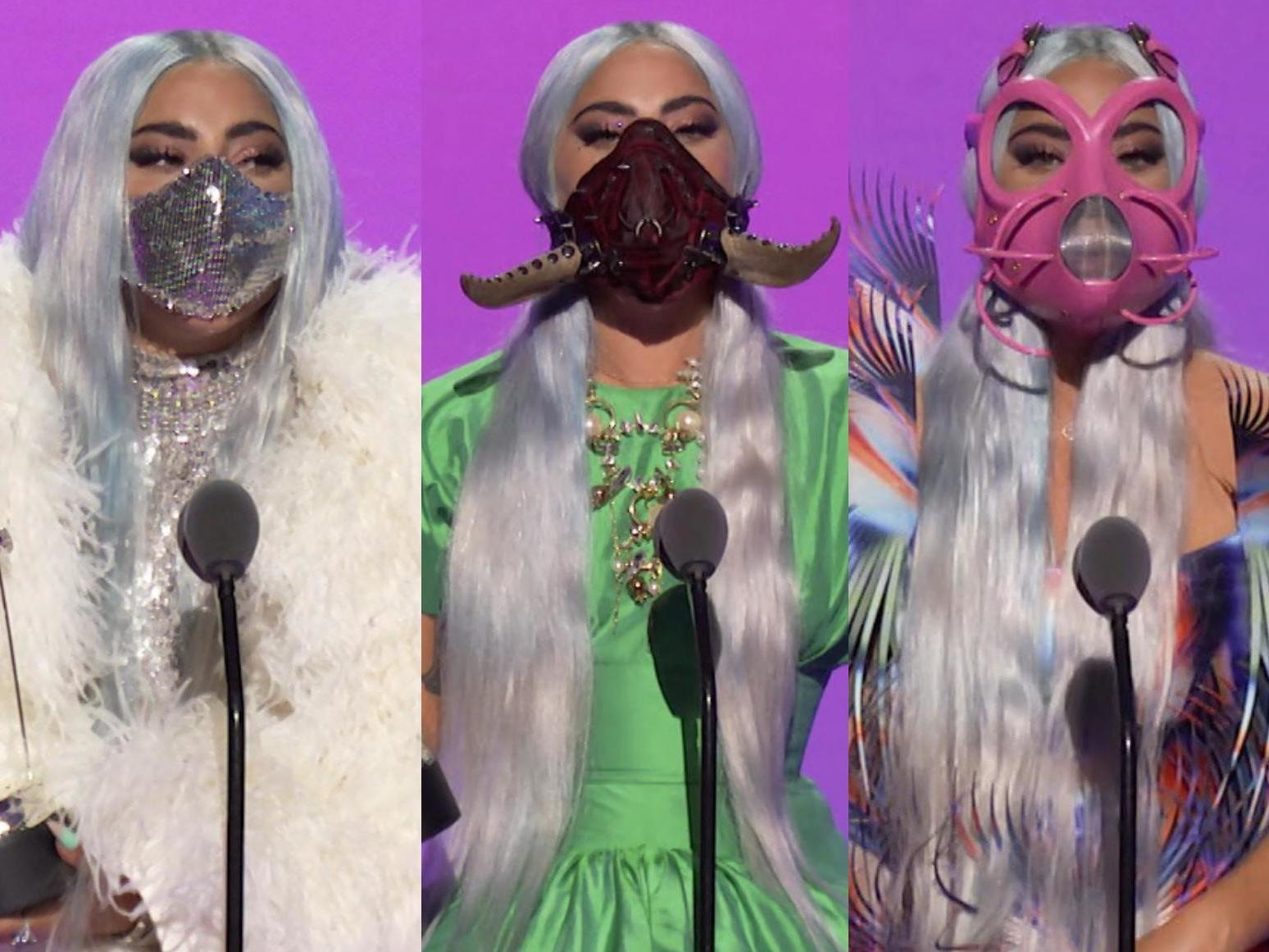 Mtv Vmas 2020 Lady Gaga S Best Outfits From An Astronaut Helmet To Futuristic Face Masks The Independent The Independent