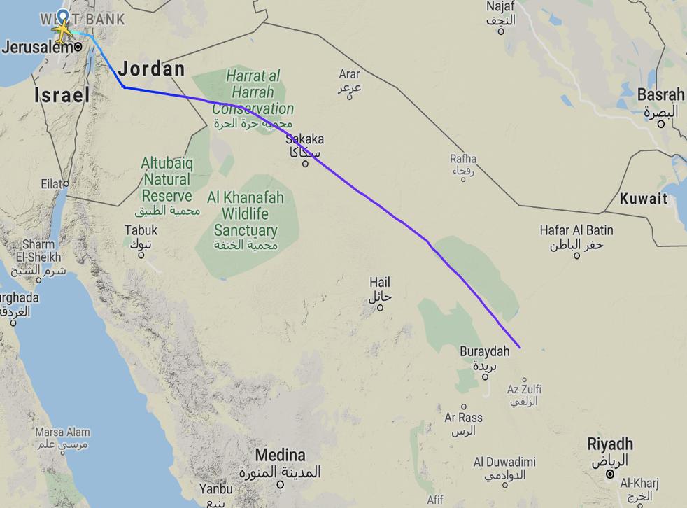 Haciendo historia: la ruta del primer vuelo sobrepasa de Arabia Saudita a los Emiratos Árabes Unidos