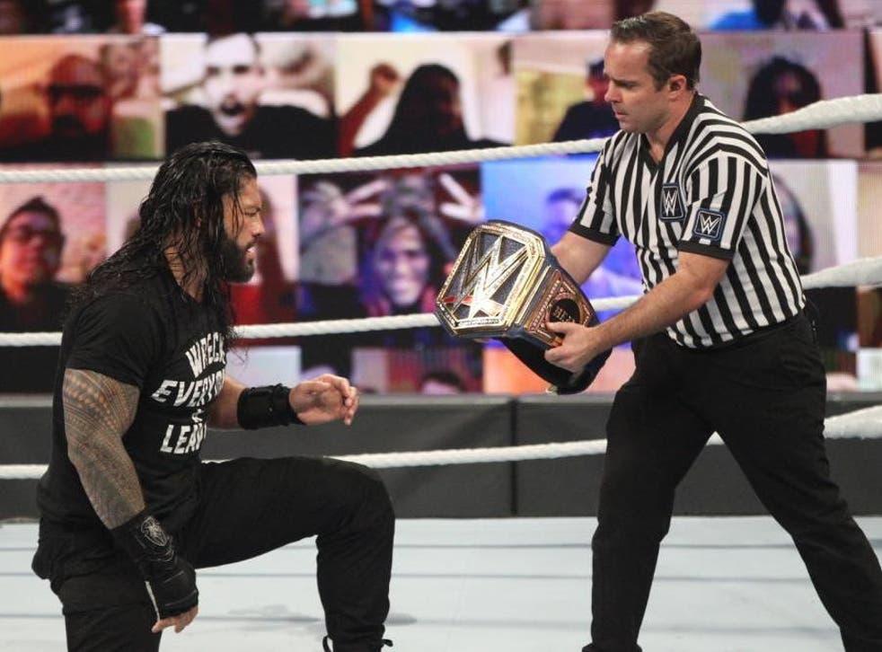 Roman Reigns wins the belt