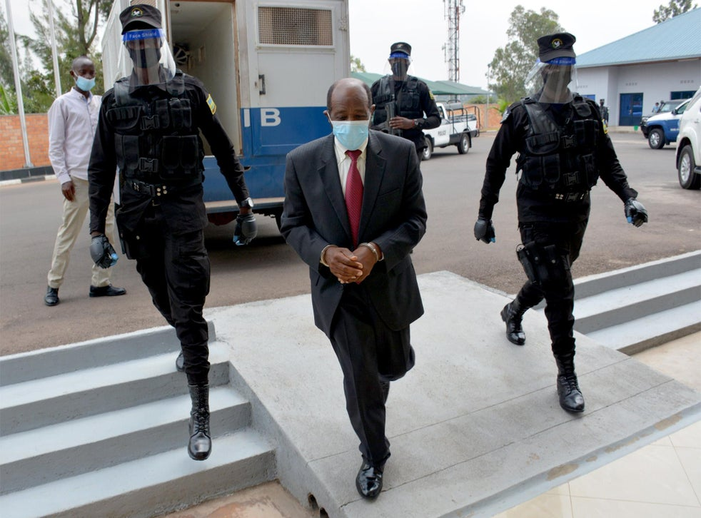 Mr Rusesabagina shortly after his arrest – it was not disclosed where he is being held