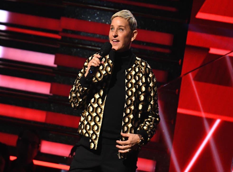 Ellen DeGeneres en la 62a entrega de los premios Grammy el 26 de enero de 2020, en Los Ángeles.