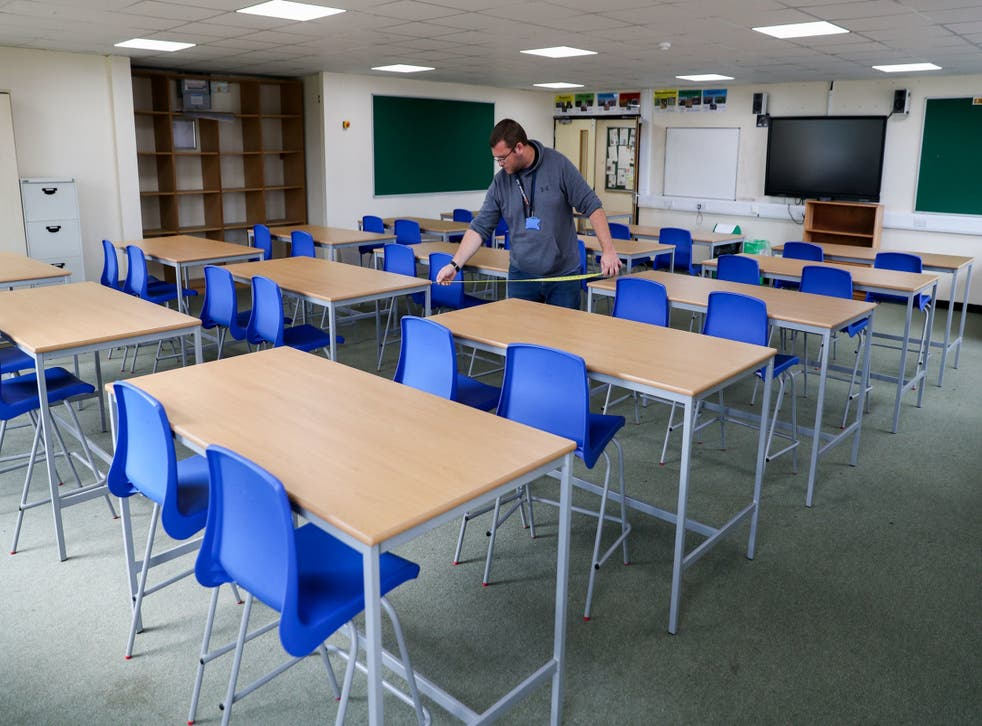 Table gaps are measured as schools prepare to go back today