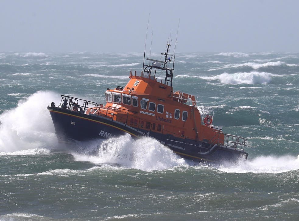 Two lifeboats and two helicopters were among the resources deployed to find the swimmer (File photo)