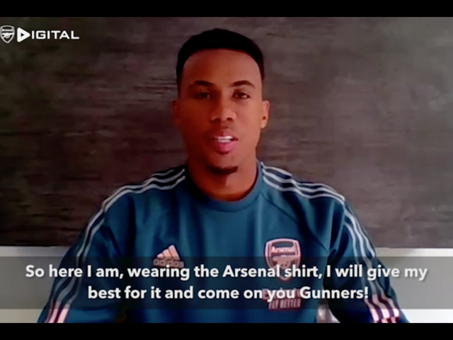 Gabriel Magalhaes will wear the No 6 shirt at Arsenal