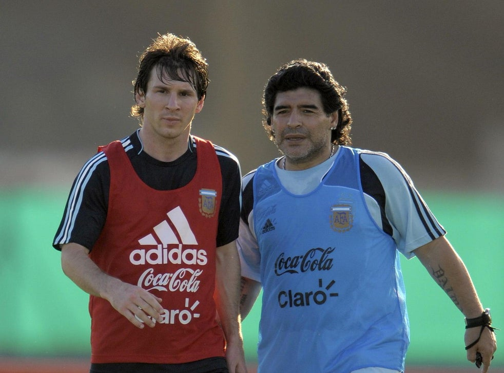Lionel Messi Or Diego Maradona Who Is The Greatest Of All Time The Independent The Independent