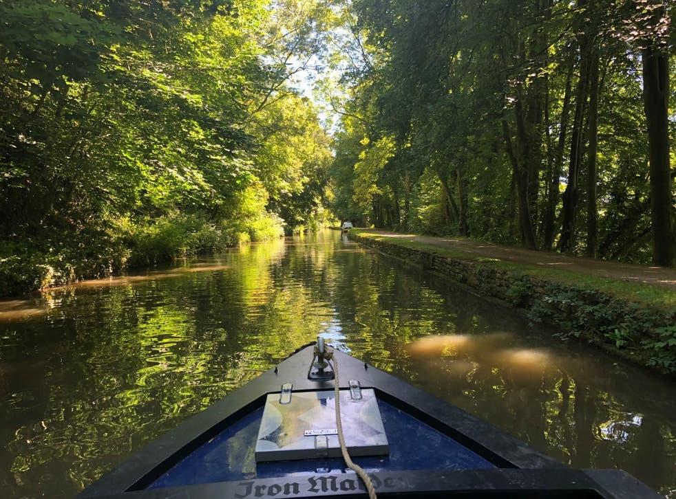 Sam Haddad headed to Bath on a narrowboat adventure