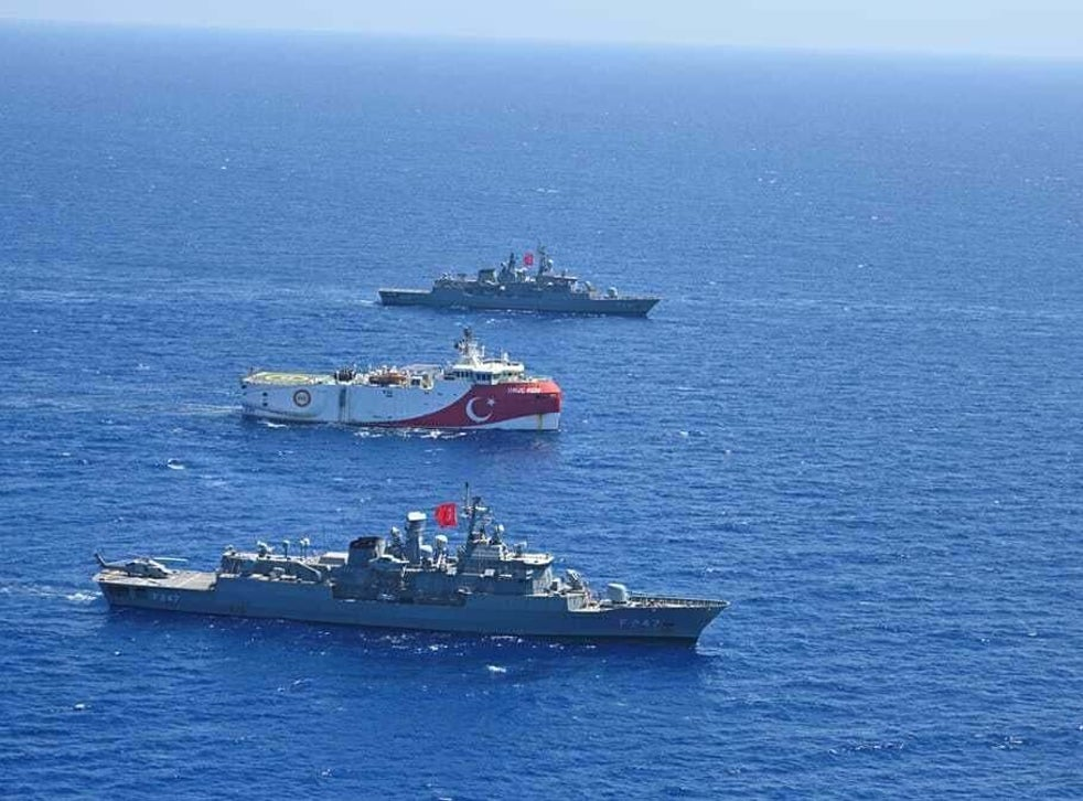 The naval exercises will take place in areas where Turkish research ships are stationed