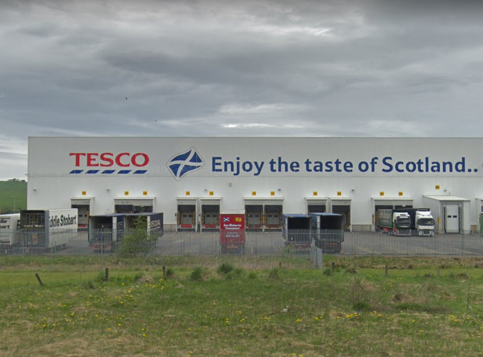 The Tesco plant in Livingston, where several workers have caught coronavirus