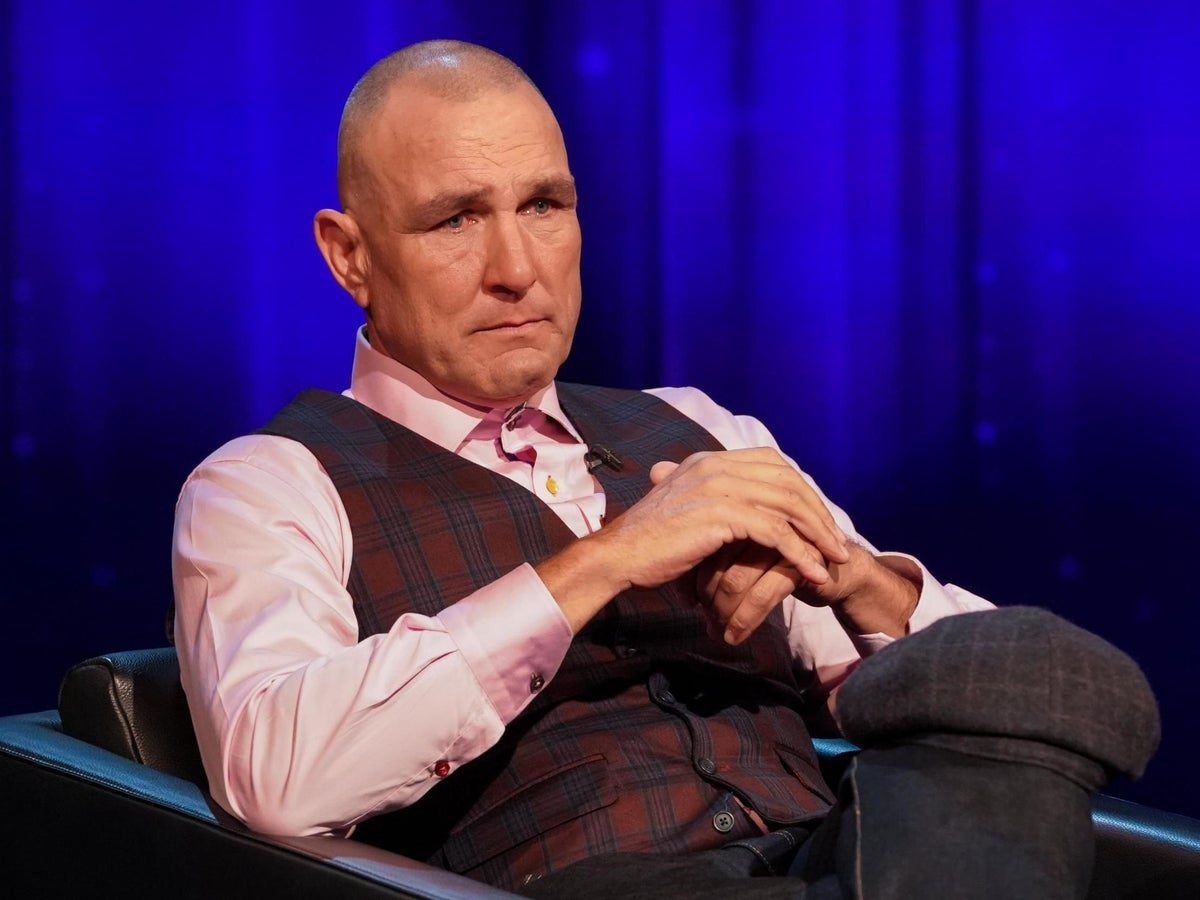 Tearful Vinnie Jones Discusses Late Wife Tanya On Piers Morgan S Life Stories The Independent The Independent